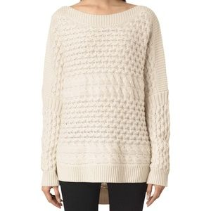 NWT All Saints Reed Boat Neck Sweater M